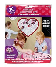30 Piece Heart Puzzle Activity