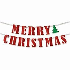 Banner Glitter Merry Xmas Amscan 210279