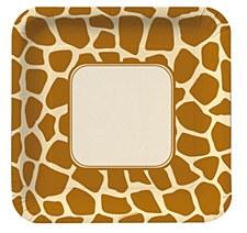 "Animal Print-Giraffe 9""Plates"
