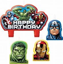 Avengers Birthday Candle Set