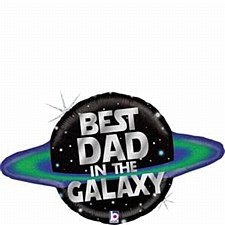 Galactic Dad Glitter Holographic Shape