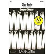 White SuperGlow Sticks- 25 pieces
