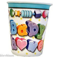 8ct Baby Bliss cups 9oz
