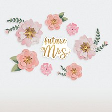 Future Mrs. Paper Flower Decorations