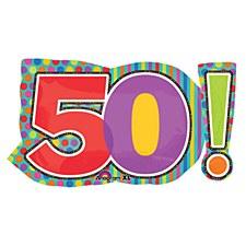 50th Birthday Dots & Stripes