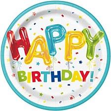 "Happy Balloon Birthday 9""Plates"