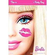 Barbie Folded Loot Bags - Plastic