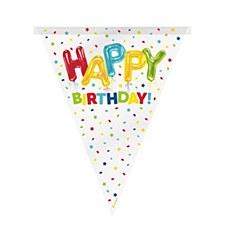 Birthday Balloon Bunting Banner