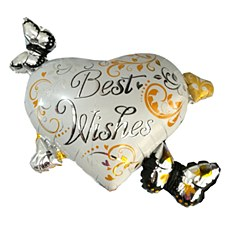 """30""""Best Wishes Heart"""