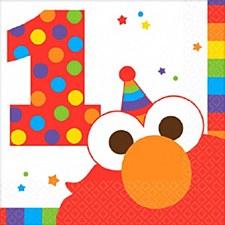 Elmo Turns One Bev. Napkins