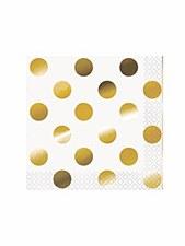 Gold Dots Bev. Napkin