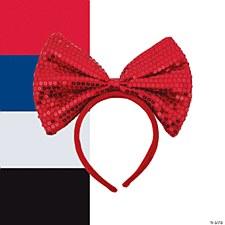 Red Sequin Bow Headband