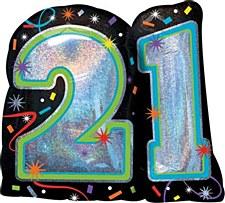 Brilliant 21st Birthday Supershape