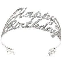 Birthday Script Glitter Metal Tiara
