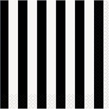 Black Stripes Bev. Napkin