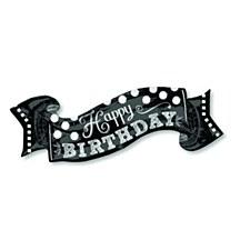 """40"""" Black & White Chalkboard Birthday"""