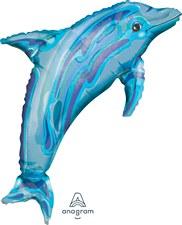 Jewel Blue Dolphin See-Thru SuperShape