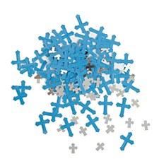 Blue & Silver Cross Confetti