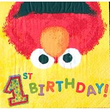 Elmo's 1st Birthday Beverage Napkins