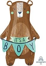 """34""""Its A Boy Bear Balloon"""