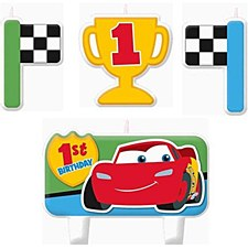 Cars 1st Birthday Candle Set