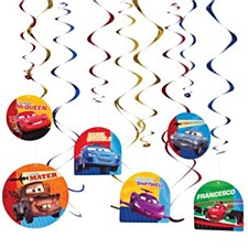 Cars 2  Value Pack Plastic Swirl Decoration
