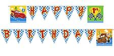 Cars 1st Birthday Banner