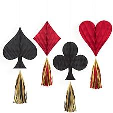 Casino Honeycomb Decorations