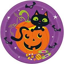 Cat & Pumpkin Plate