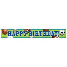 Celebrate Sports Foil Banner