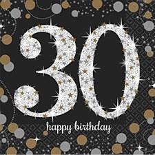 Sparkling Celebration 30 Bev Napkin