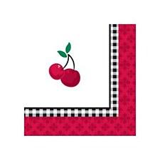 Cherry Gingham Bev. Napkin