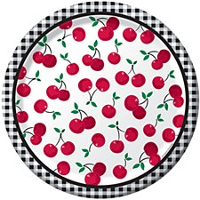 Cherry Gingham 9IN Plates