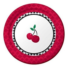 Cherry Gingham 7IN Plates