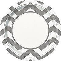 Silver Chevron 9IN Plate