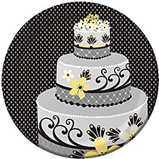 Chic Wedding Cake 10in Plate