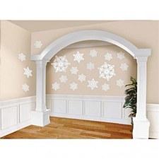 20 Glitter Snowflake Cutouts
