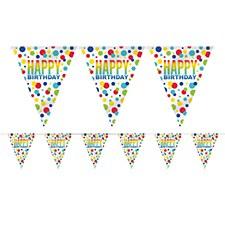 Rainbow Spots Birthday Pennat Banner