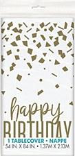 Confetti Gold Birthday Tablecover