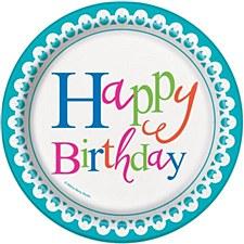 "Confetti Cake Birthday 7""Plate"