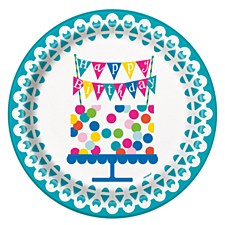 "Confetti Cake Birthday 9""Plate"