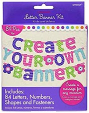 Purple & Teal Customizable Letter Banner - Printed Paper