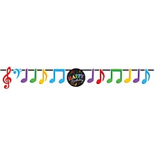 Music Notes Happy Birthday Banner
