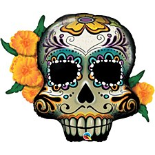 38in Day Of The Dead Skull Balloon