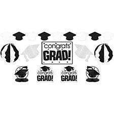 Graduation DecorationKit White&Black 10pc