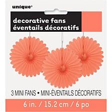 3 Mini Coral Fans