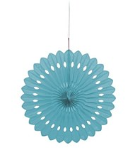Powder Blue Decorative Fan