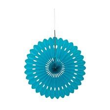 Teal Decorative Fan