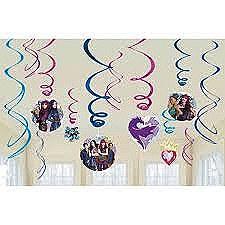 Descendants 2 Swirl Decorations