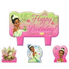 Disney Princess Tiana Enchanted Molded Cake Candle Set